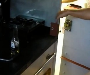 Trash Dumpster Converted Into Single Room Home