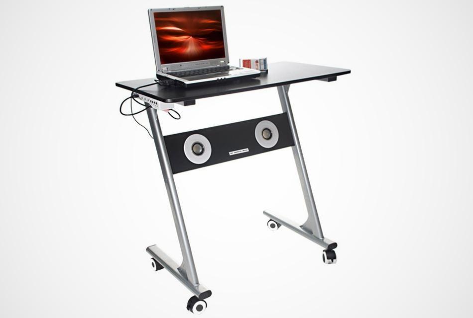 Compact Computer Desk with Speakers_BonjourLife.com