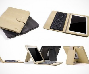 Rock iPad 3 Bluetooth Keyboard Leather Case