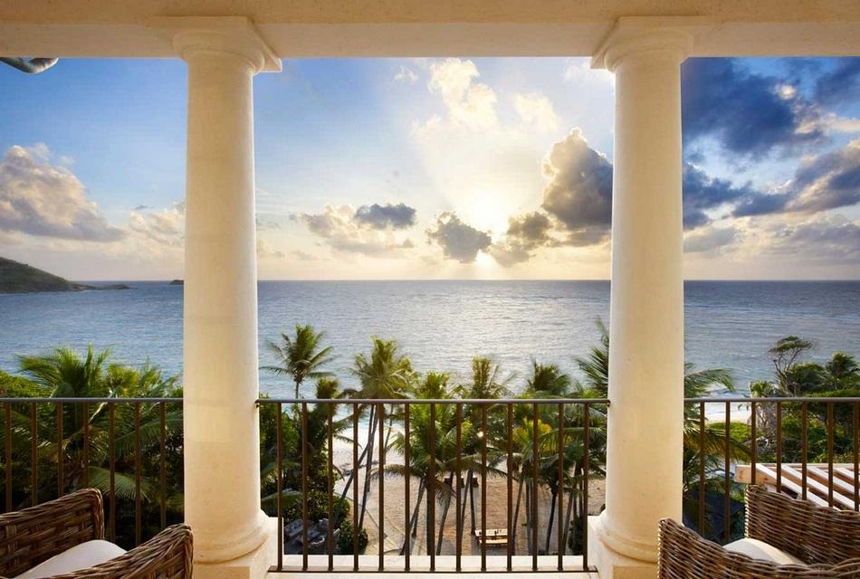 Sunrise House Macaroni Beach of Caribbean island of Mustique, West Indies (5)