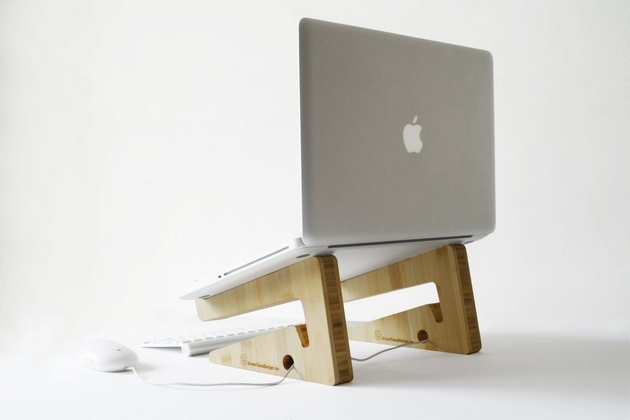 Bamboo Puzzle Laptop Stand (2)