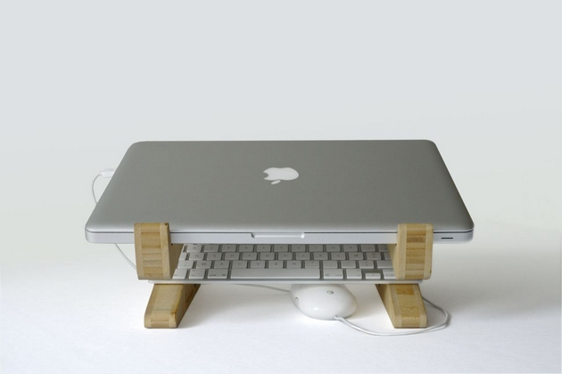 Bamboo Puzzle Laptop Stand (3)