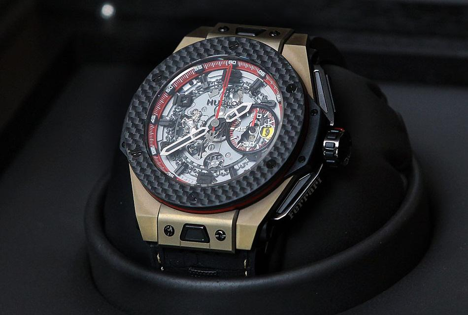 Hublot Big Bang Ferrari Watch 18K Magic Gold and Carbon Fiber Greater China Limited Edition