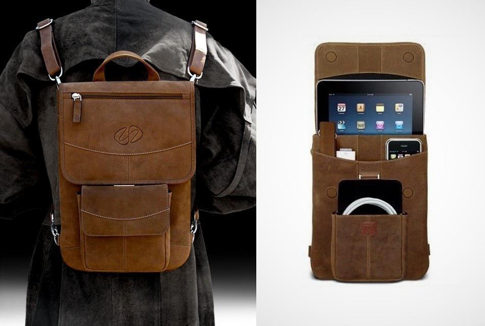 Premium Leather iPad Flight Jacket with Backpack Option