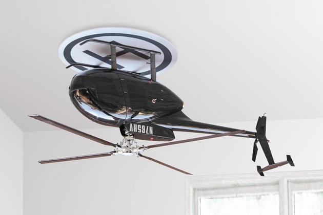 Upside Down Helicopter Ceiling Fan_BonjourLife.com