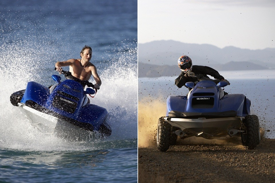 quadski atv converts into jet ski bonjourlife. Black Bedroom Furniture Sets. Home Design Ideas