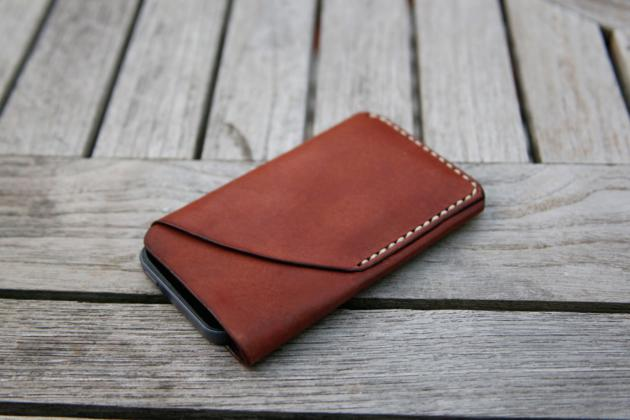 iPhone 5 Natural Leather Case & Card Holder (2)