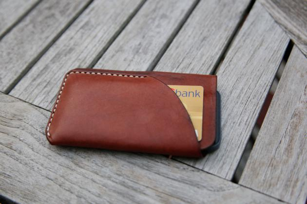 iPhone 5 Natural Leather Case & Card Holder (1)