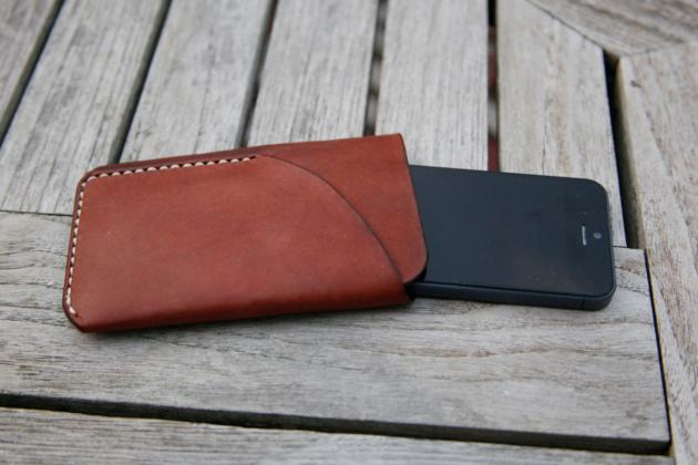 iPhone 5 Natural Leather Case & Card Holder (3)