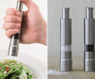 One-Handed Salt and Pepper Grinders