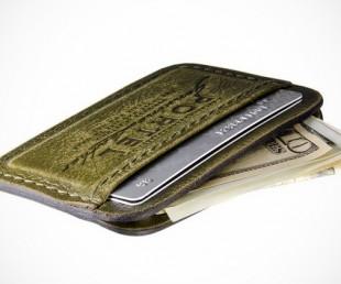 RETROMODERN aged leather Credit Card wallet (2)
