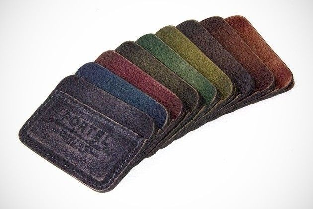 RETROMODERN aged leather Credit Card wallet (1)