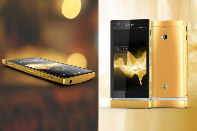 Sony Xperia P 24-Carat Gold (1)