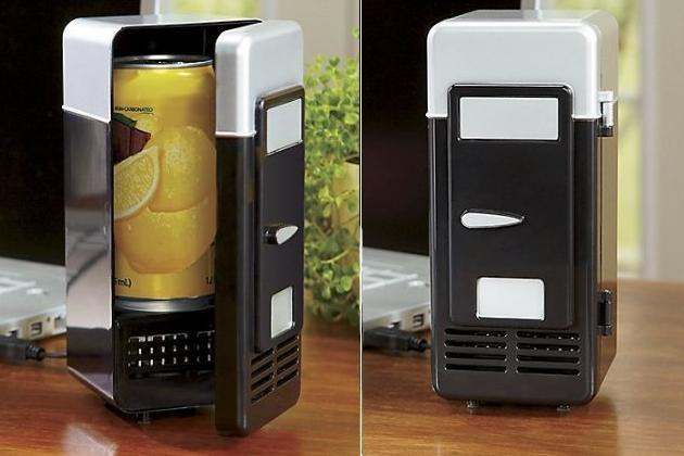 The Swiss Colony USB Heating & Cooling Mini Fridge