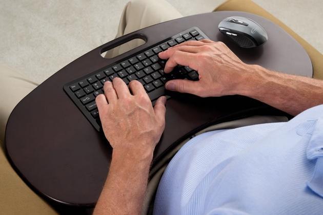 Wireless Lap Desk Keyboard Bonjourlife