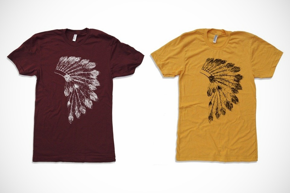 native american headdress tshirt