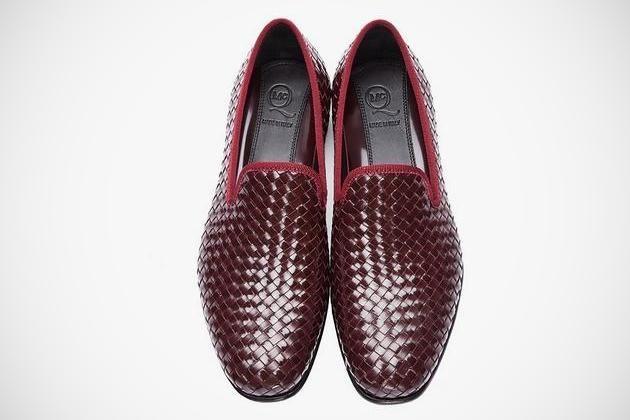 Burgundy Leather Razor Blade Slippers