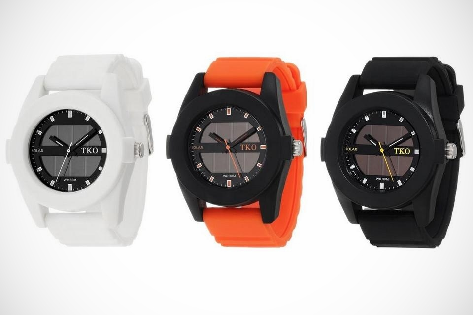TKO Solar Rubber Watches