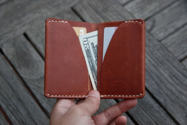 Handmade Ultra Slim Leather Wallet (2)
