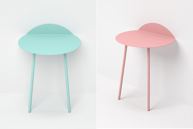 Kaki Minimal Side Table By Kenyon Yeh