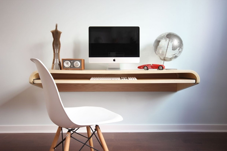The Minimal Float Wall Desk