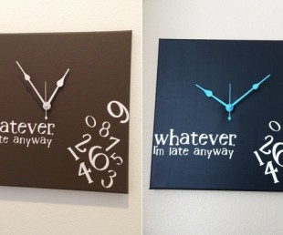 Whatever, I'm late anyway wall clock