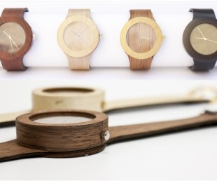 All Natural Wood Watch With Soft Strap (1)