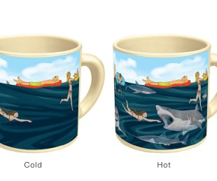 Heat-sensitive shark mug