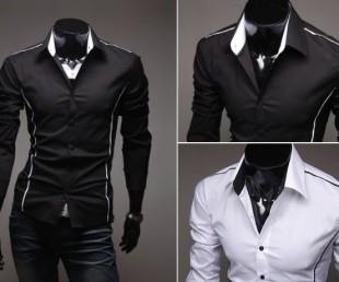 Men's Shirt with Vertical Seam Detail