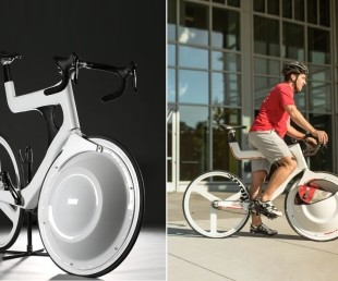 Transport Bicycle Packs A Storage Compartment In The Front Wheel