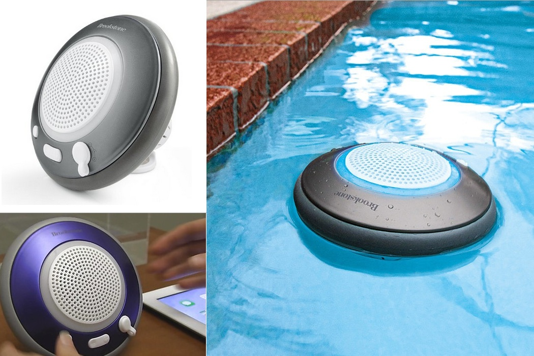 Brookstone Waterproof Floating Bluetooth Speaker (1)
