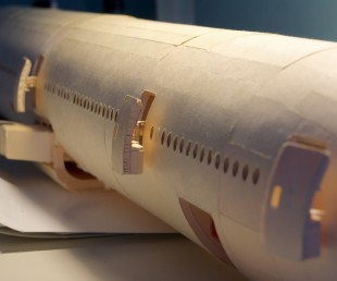 160-Scale Boeing 777 Built from Paper Manilla Folders (15)