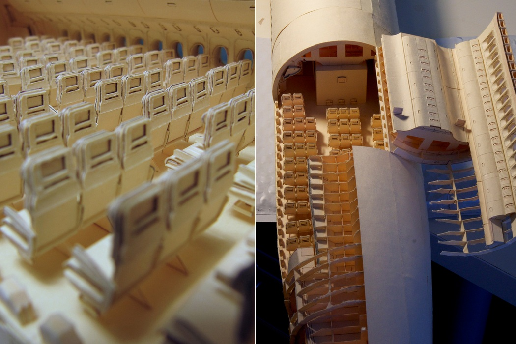 160-Scale Boeing 777 Built from Paper Manilla Folders (8)