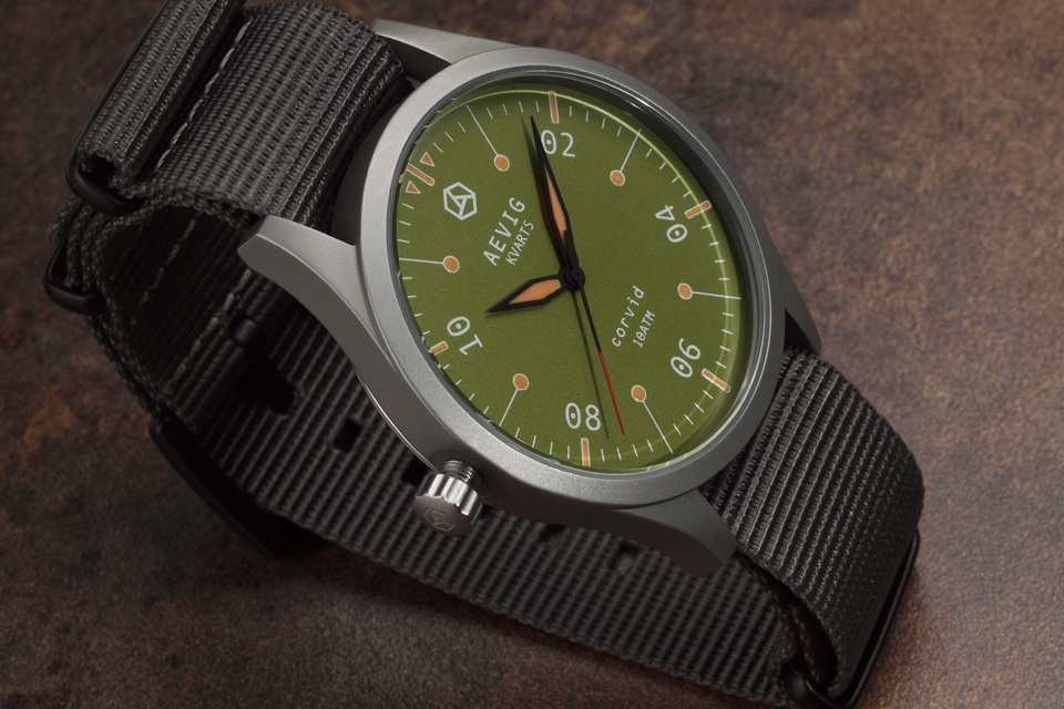 Aevig Corvid – Classic Quartz Field Watch