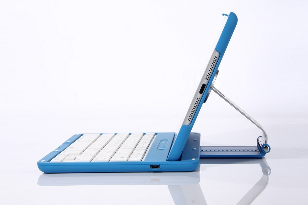 Aluminum 360 Swivel iPad Stand Case Bluetooth Keyboard