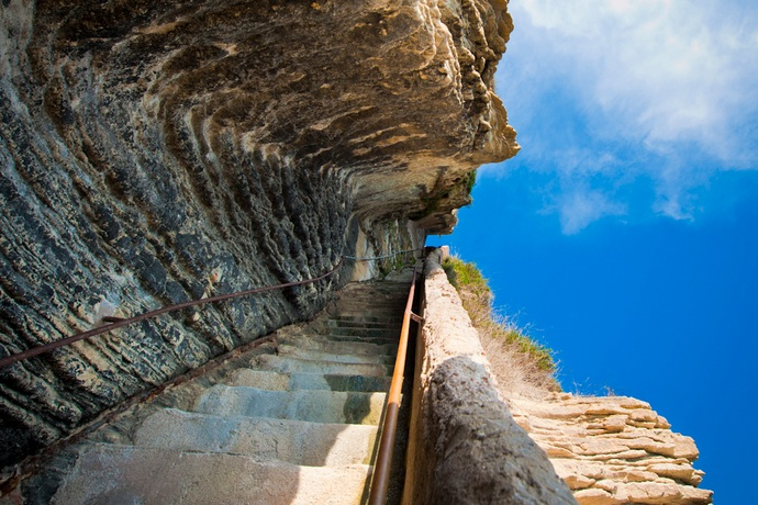 Falling Upwards King Aragons Stairs in France (1)