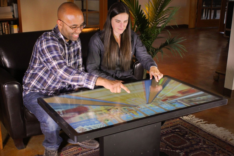 Ideums 46 Multitouch Coffee Table