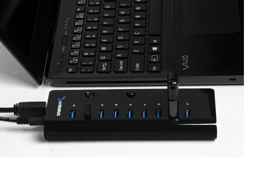 Sabrent Portable 10-Port 3.0 USB Smart Charging Hub