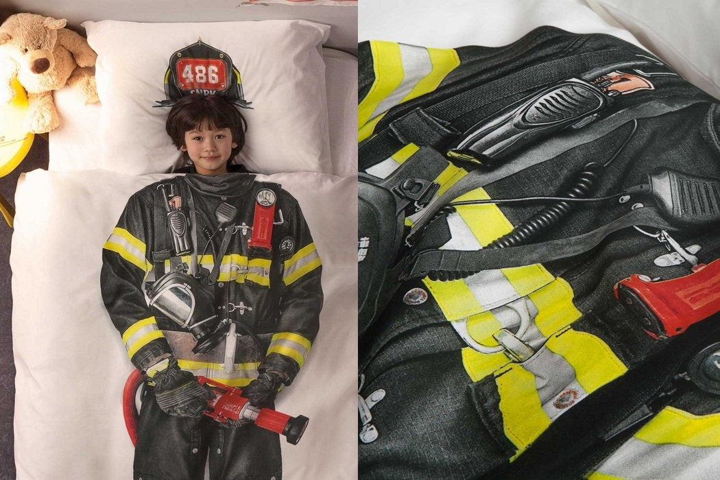 Snurk Firefighter Duvet Bedding Cover