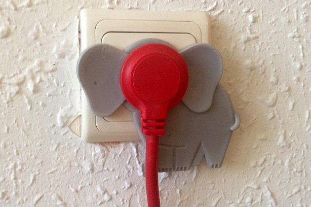 Cute Elephant Wall Plugs