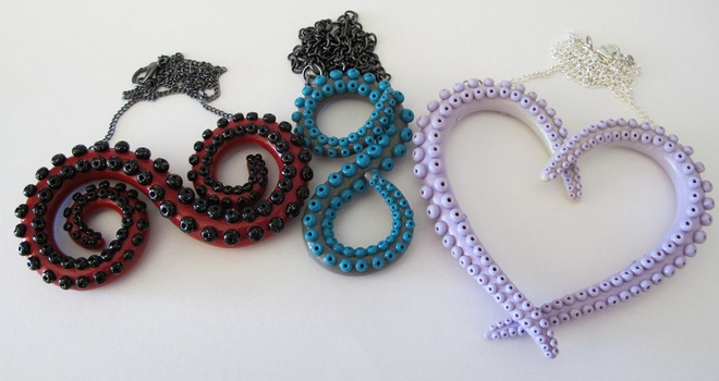 Handcrafted Octopus Tentacle Jewelry