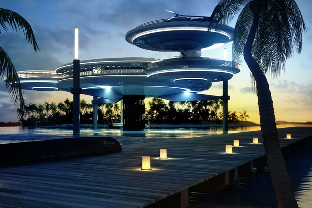Luxury Underwater Disc Hotel Dubai