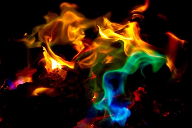 Color Your Fire Magical Flames Adds Colorful Flames To A Campfire Fire ...