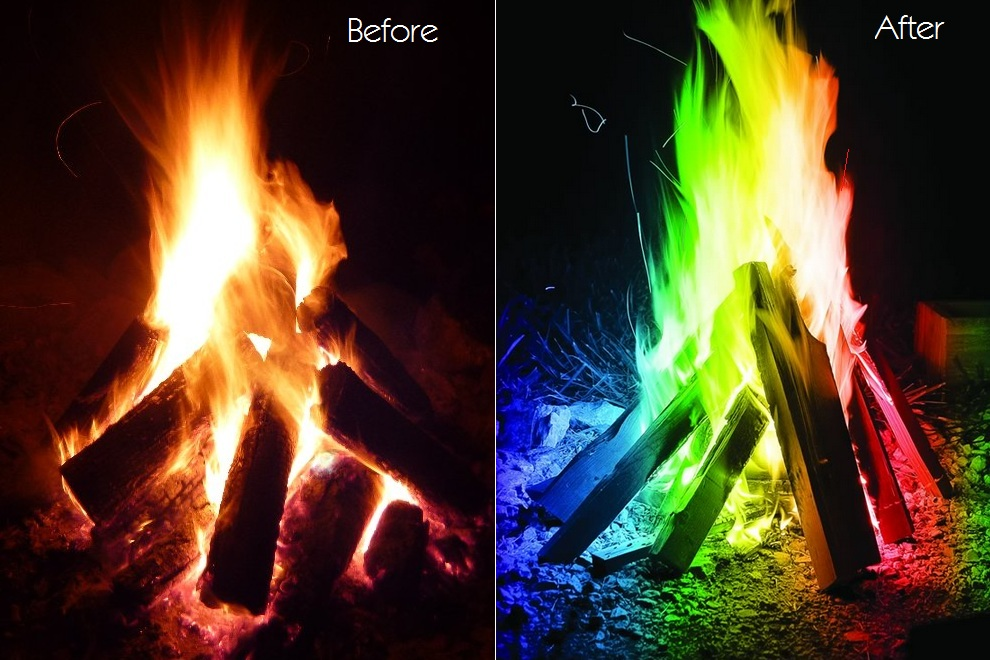 Mystical Fire - Campfire Colorful Flames