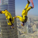 Breathtaking BASE Jump from Burj Khalifa Pinnacle