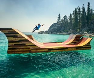 Lake Tahoe Floating Skate Ramp