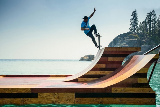 Lake Tahoe Floating Skate Ramp