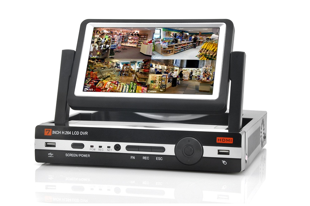 8 Channel Portable DVR With 7 Inch Screen