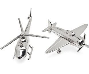 Airplane Dinnerware Airplane Chopper Salt and Pepper