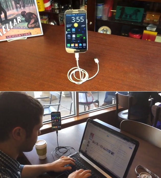 Magic Phone Stand Suspends Your Phone In Mid Air